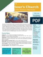 st saviours newsletter - 30 december 2018