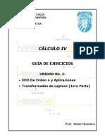 Cálculo IV - Guía de Ejercicios - Unidad No. 2 .Docx