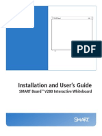 SMART Board V280 Interactive White Board Installation and User's Guide