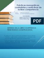 Prácticas Monopólicas, Controlistas y Restrictivas de La Libre Competencia