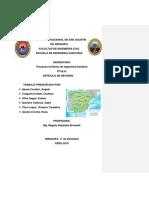 ANÁLISIS DE LOS ESTUDIOS DE CARACTERIZACIÓN DE LOS SEDIMENTOS ACUMULADOS EN ALCANTARILLAS DE ESPAÑA