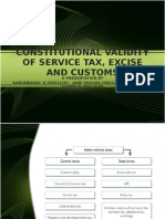 Constitutional Validity of Service Tax, Excise and Customs CIA 1 Ppt