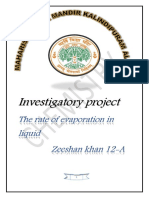 Chemistry Class 12 investigatorty project