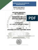 Historia Universal Del Derecho - Derecho de Los Hititas Egipcios