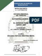 Historia Universal Del Derecho - Autoevaluación X