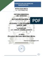 Historia Universal Del Derecho - Autoevaluación XV