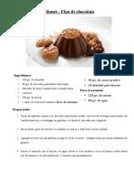 Bonet - Flan de Chocolate
