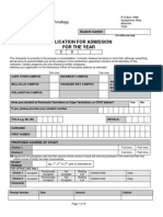 CPUTapplication Form - 2010