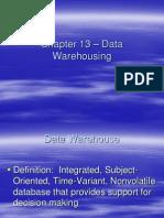 Chapter 13 - Data Warehousing