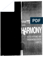 Harmony in Its Systemic and Its Phenomenological Aspects