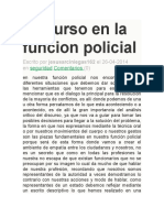 Discurso en La Funcion Policial Luis Bello