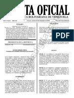 Gaceta Oficial Extraordinaria 6419 Decreto Inamovilidad