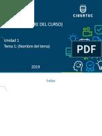 4.- PPT Sesión 01 2019 00 Nombre de Curso (0000)