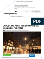 Catholicism, Protestantism and the Real Meaning of Christmas