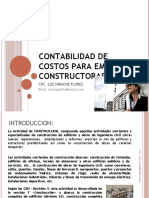 Contabilidad de Costos Para Empresas Constructoras