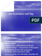 Job Evaluation and Pay
