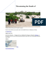 Flood Waters Threatening the South of Pakistan