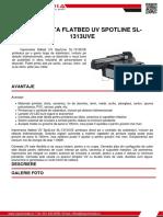 Imprimanta Flatbed Uv Spotline Sl 1313uve Z Spot Media SRL