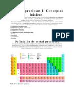 Metales Preciosos I