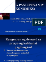 Araling Panlipunan IV Ekonomiks Kaugnyan Ng Demand at Presyo