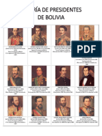 Presidentes de La Republica de Bolivia