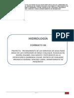 informe estudio hidrologico