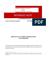 Article 35A of the Constitution- An Overview