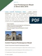 Contoh Proposal Pembangunan Masjid Yang Baik Dan Benar Edisi 2018 __ Reader View