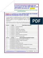 ISO 14001 Work Instruction and SOPs