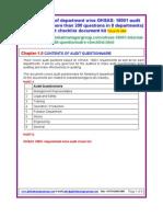 OHSAS Audit Questionnaire Checklist