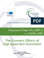 Economic Effects of High Speed Rail Investment - OECD