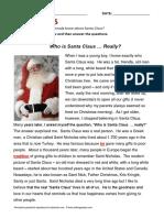Lesson Santa Claus