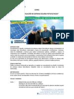 Programa Diseño e Instalación Sistemas Solares Fotovoltaicos
