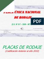 Placas de Rodaje (Perú)