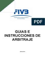 Guías e Instrucciones de Arbitraje 2014-2016