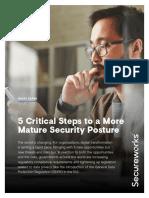 Secureworks-ECO1163N-5CriticalStepsToAMoreMatureSecurityPostureWhitePaper