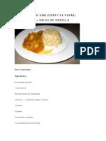CURRY de PAPAS y Salsa de Cebollas