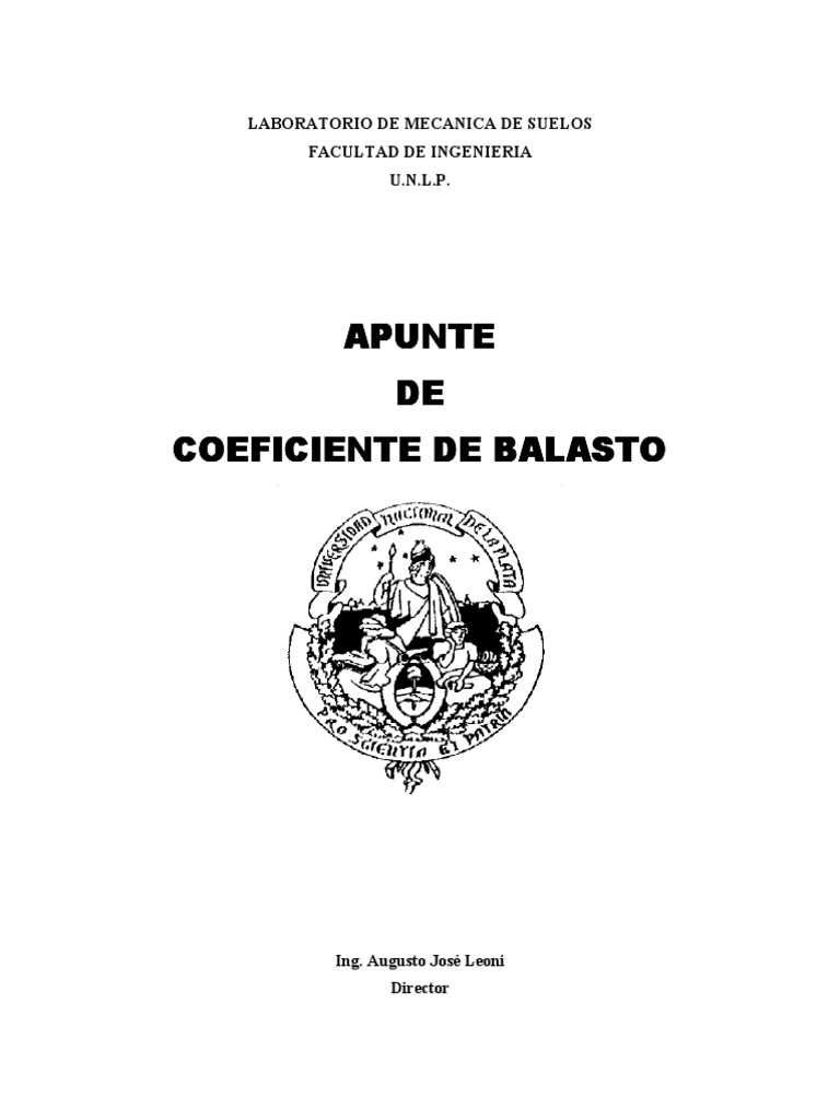 Coeficiente De Balasto Pdf