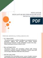 Pengantar Pengantar Kecerdasan Buatan Artificial Intelligence