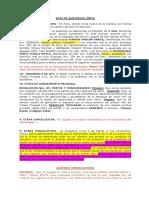 Exp. 1395-2018 Acta de Audiencia Única Con Conciliacion Alimentos