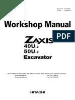 HITACHI ZAXIS 40U-2 EXCAVATOR Service Repair Manual.pdf