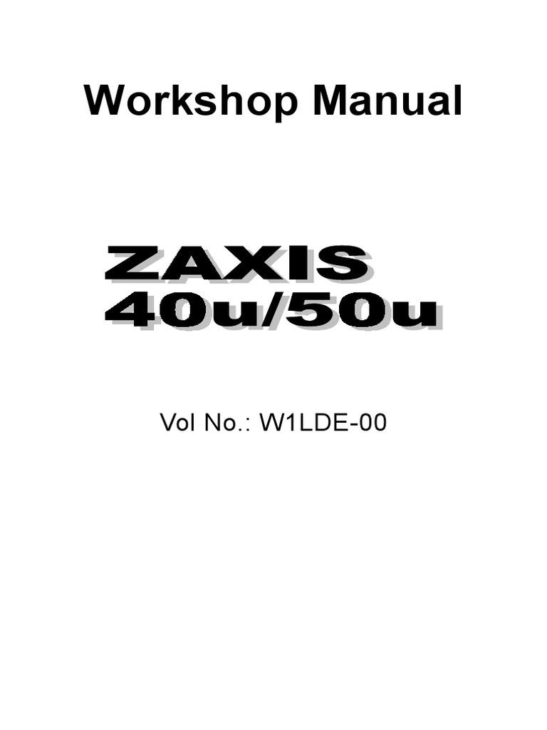 HITACHI ZAXIS 40U EXCAVATOR Service Repair Manual.pdf