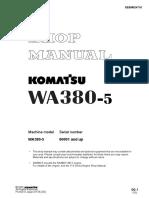 Komatsu WA380-5 Wheel Loader Service Repair Manual SN:60001 and up.pdf