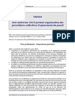 Procédures Collectives d'Apurement Du Passif