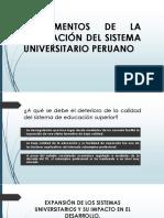 Fundamentos de La Regulación Del Sistema Universitario Peruano