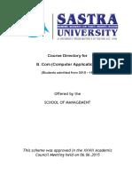 B. Com (CA) - Course Directory - Corrected