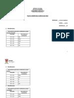 Pauta Cobertura Curricular - Cuarto