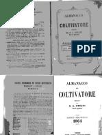 Almanacco Del Coltivatore 1864