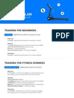 Treadmill Training Plans