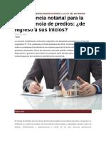 Análisis de Las Recientes Modificaciones a La Ley Del Notariado